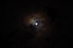 Cloudy Moon Royalty Free Stock Photos