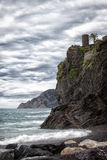 Cloudy morning on the bank of the Ligurian Sea Stock Images