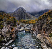 Cloudy morning in Fairy Pools Stock Photo