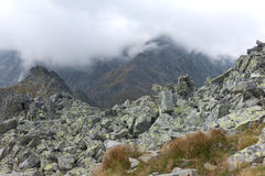 Cloudy morning in High Tatras Royalty Free Stock Photography