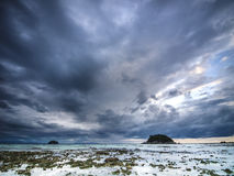 Cloudy morning on Koh Lipe island. Thailand Stock Images