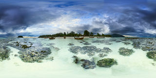 Cloudy morning on Koh Lipe island. Thailand Royalty Free Stock Photos