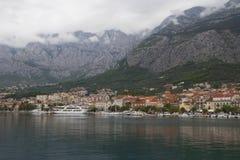 cloudy morning in Makarska, Croatia Stock Photography