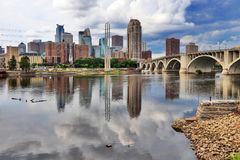 Cloudy morning in Minneapolis. Stock Images