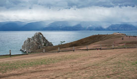 Cloudy morning on the Olkhon island. Lake Baikal Stock Image