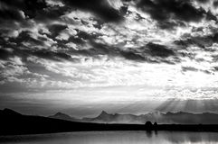 Black and White Clouds Royalty Free Stock Photography