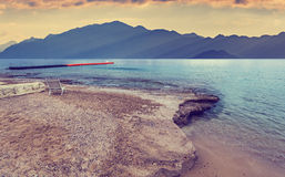 Cloudy morning at the Red Sea near Eilat Stock Images