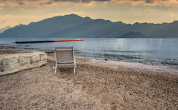 Cloudy morning at the Red Sea near Eilat Stock Photo