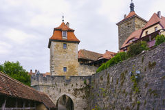 Cloudy morning in Rothenburg Ob Der Tauber Royalty Free Stock Photo