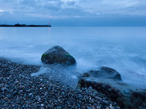 Cloudy morning seascape Stock Images