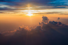Cloudy Morning Sky. Colorful sky and sunrise. Natural landscape background Royalty Free Stock Photo