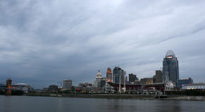 Cloudy morning skyline of.Cincinnati Royalty Free Stock Image