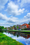 Cloudy morning in the small europe town. Royalty Free Stock Images