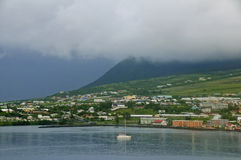Cloudy morning in St. Kitts Royalty Free Stock Image