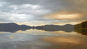 Sun and moon lake, Taiwan. A morning scene of the lake royalty free stock photography