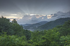 Cloudy Morning Sunrise over Gatlinburg, Tennessee Royalty Free Stock Photo
