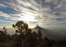 Morning view from Acatenango Volcano, Guatemala royalty free stock photos