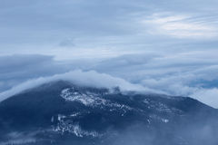 Cloudy mountain landscape Stock Image