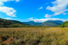 Cloudy mountain landscape royalty free stock photo