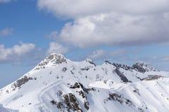 Cloudy mountain landscape of Krasnaya Polyana Stock Images