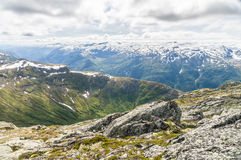 Cloudy mountain landscape of Norway Stock Photo