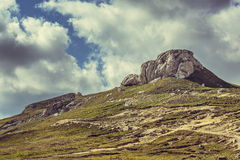 Cloudy mountain landscape Stock Photography