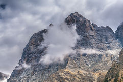 Cloudy mountain peaks Grant Teton National Park Stock Photography