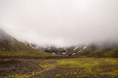 Cloudy mountain with snow Royalty Free Stock Image