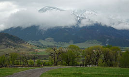 Cloudy mountain view stock photography