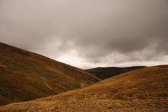 Cloudy mountain view in ukraine Royalty Free Stock Images