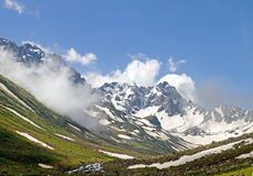 Cloudy Mountains. Kackar Mountains, a mountain range stretching along Black Sea coast, Turkey Royalty Free Stock Image
