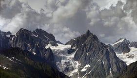 Cloudy Mountains Stock Photo