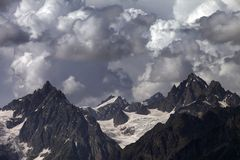 Cloudy mountains. Caucasus Mountains. Royalty Free Stock Images