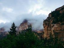 Cloudy mountains Stock Photos