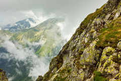 Cloudy mountains Royalty Free Stock Photography
