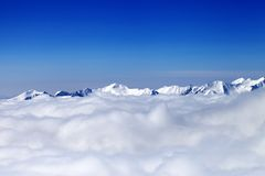 Cloudy mountains at nice day Royalty Free Stock Images