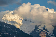 Cloudy Mountains at Sunset Royalty Free Stock Photography