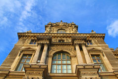 Cloudy Museum. Louvre museum's building during cloudy weather Stock Images