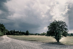 Cloudy nature scenery royalty free stock photos