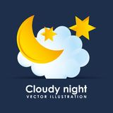 Cloudy night design Royalty Free Stock Image