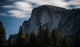 Cloudy Night on Half Dome Stock Photos