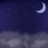 Cloudy night sky as a background,. Illustration Royalty Free Stock Photos