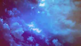 Cloudy night sky Royalty Free Stock Photography