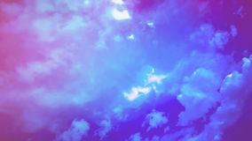 Cloudy night sky Stock Images