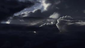 Cloudy night sky. With stars stock photos