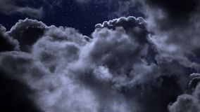 Cloudy night with stars. Cloudy night sky with stars royalty free stock image