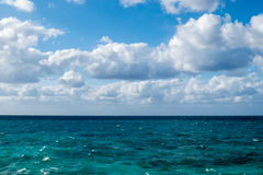Cloudy Ocean View Stock Image