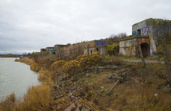 Cloudy october day at the North Forte. Kronstadt Stock Photography
