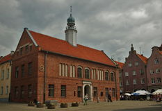 Cloudy in Olsztyn. Old Town Hall in Olsztyn, Poland stock images