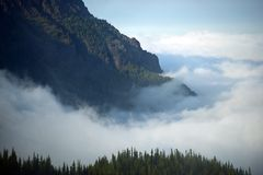 Cloudy Olympic Mountains. Olympic National Park, Washington, USA Royalty Free Stock Images